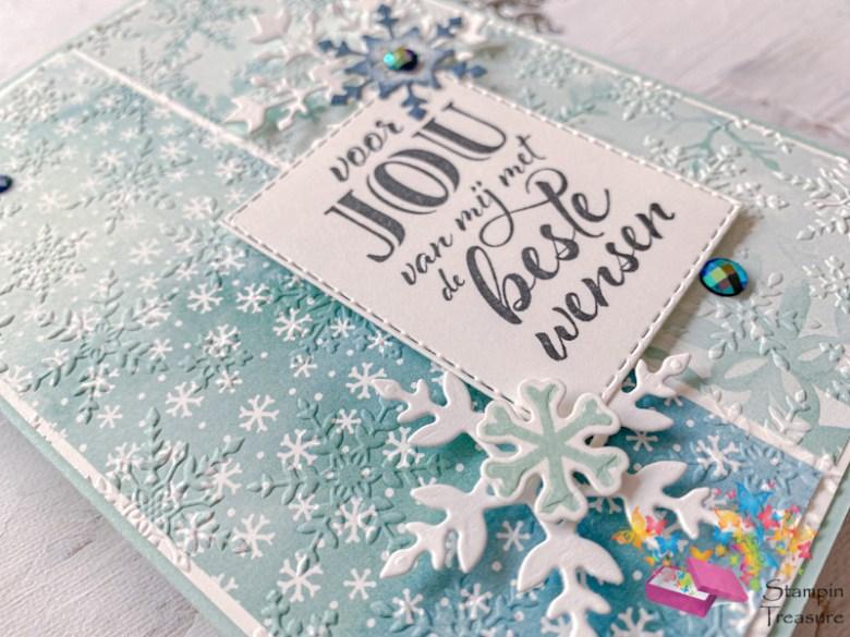 winterpracht, snowflake splendor, desinger paper, papier met design, sneeuwvlokken, kerst, stampin up, stampin treasure, fun fold, card, gift, kaart, cadeau