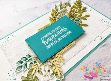 happiness, verjaardagskaart, eeuwig groen, natuurlijk voor altijd, forever fern, stampin up, stampin treasure