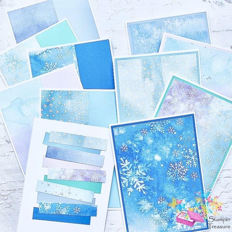 winterpracht, snowflake splendor, desinger paper, papier met design, sneeuwvlokken, kerst, stampin up, stampin treasure, kaarten buffet
