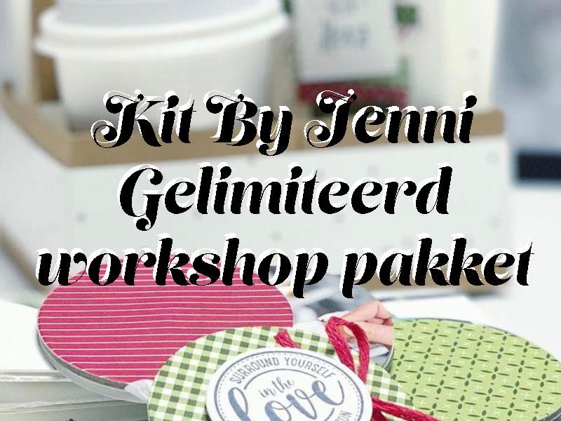 kerst kit by jenni, stampin up, workshop, pakket, stampin treasure, doe het zelf, thuis, at home