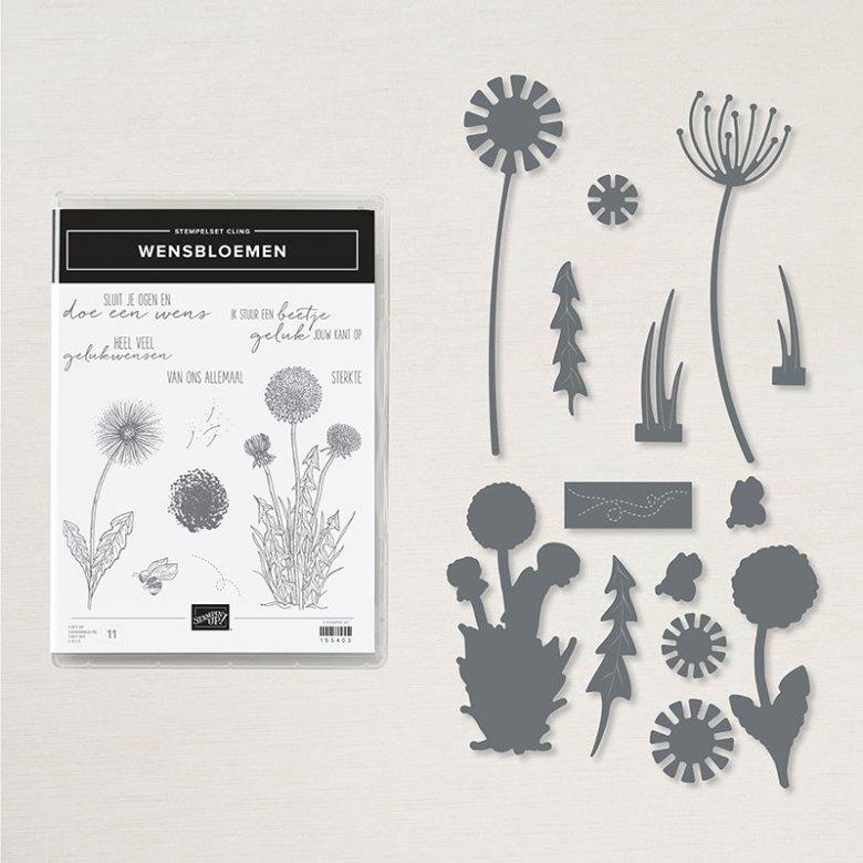 wensbloemen, stampin up, nederlands, stampin treasure, productpakket, bundle, bundel
