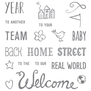 Welcome Words, Stampin' Up!