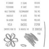 Souhaits Et Vœux Photopolymer Stamp Set (French)