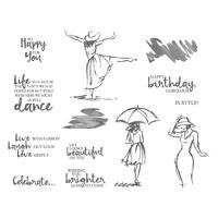 Beautiful You Wood-Mount Stamp Set