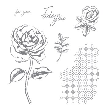 Graceful Garden Clear-Mount Stamp Set