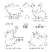 This Little Piggy Wood-Mount Stamp Set