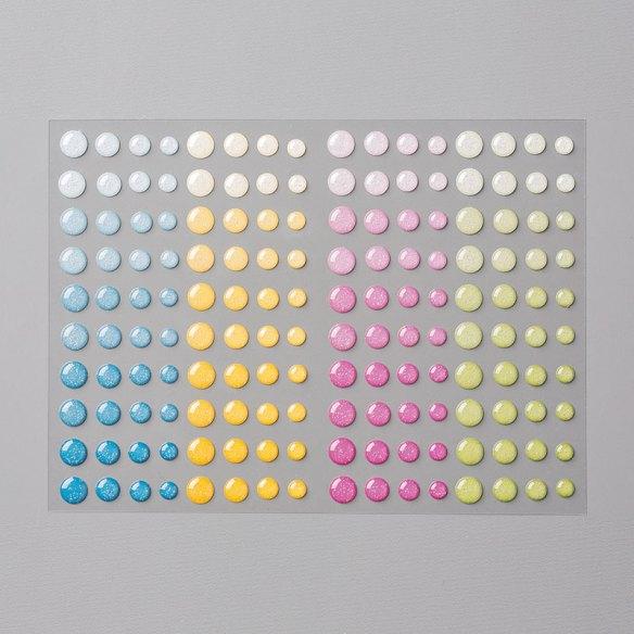 Glitter Enamel Dots