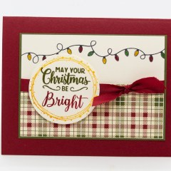 Making Christmas Bright Christmas Card Project