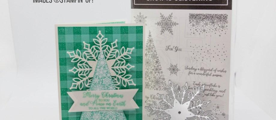 Snow is Glistening & Buffalo Check Christmas card
