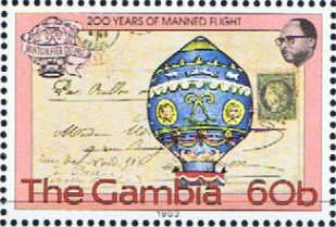 Sello emitido por Gambia, en 1983.