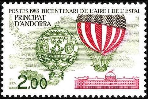 Sello emitido por Andorra, en 1983.
