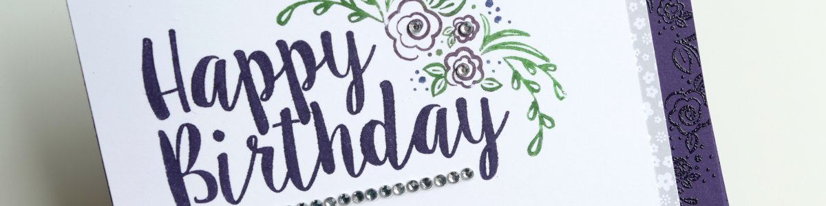 Big on Birthdays stamp set from Stampin' Up!