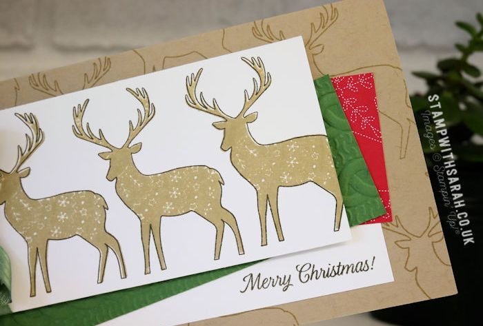 Christmas Reindeer card with Merry Patterns stamp set