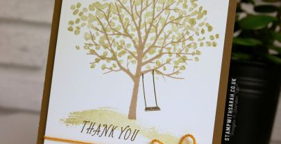 Sending thanks with the Sheltering Tree stamp set