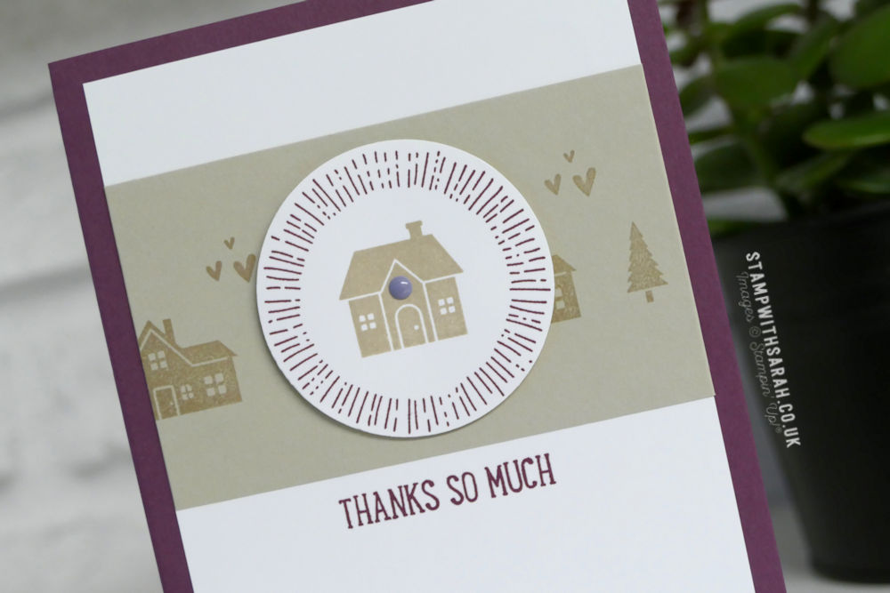 Thank you cards with Stampin\' Up! Hearts Come Home stamp set ...