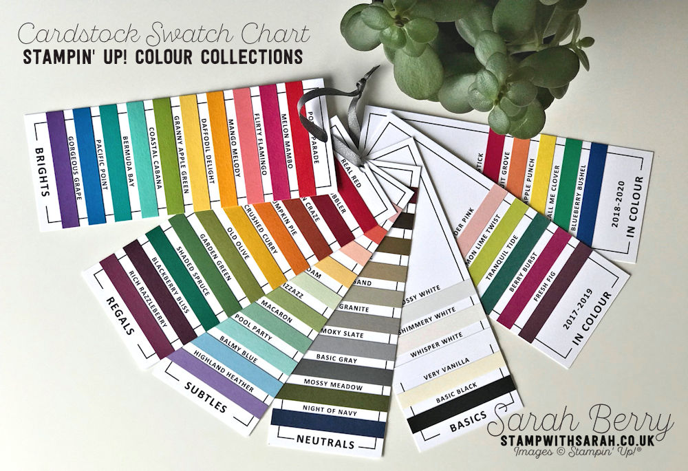 Stampin Up Colour Collections Swatch Chart Colour Revamp Shop