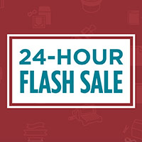 24 Hour Flash Sale today only & Last day of Online Extravaganza!