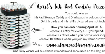 April's Prize Draw – Win an Ink Pad Caddy and 5 ink pads of your choice!