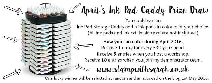 April's Ink Pad Caddy Prize Draw