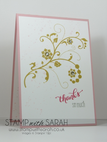 August Customer Thank you card