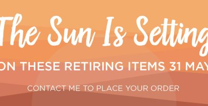 The Sun is Setting on these Retiring Stampin' Up! Items!
