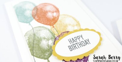 In Colour Balloons with the Balloon Builder stamp set