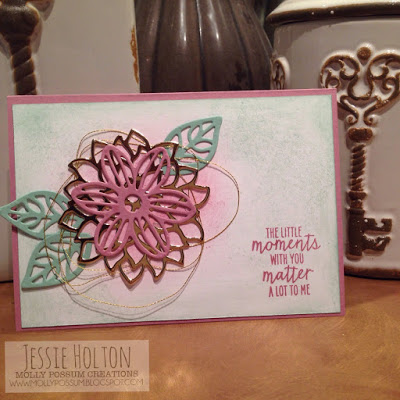Jessie Holton MollyPossum Creations Stampin Up May Flower Framelits