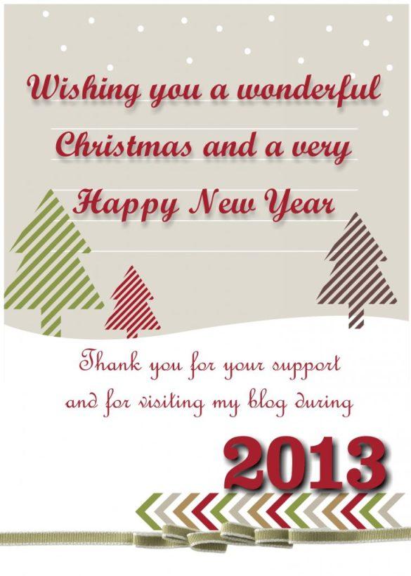 Merry Christmas Postcard using MDS