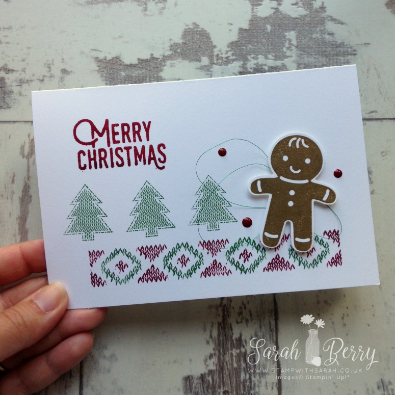 Such a cute Gingerbread man for Stampin' Creative Autumn-Winter Sneak Peek Blog Hop!