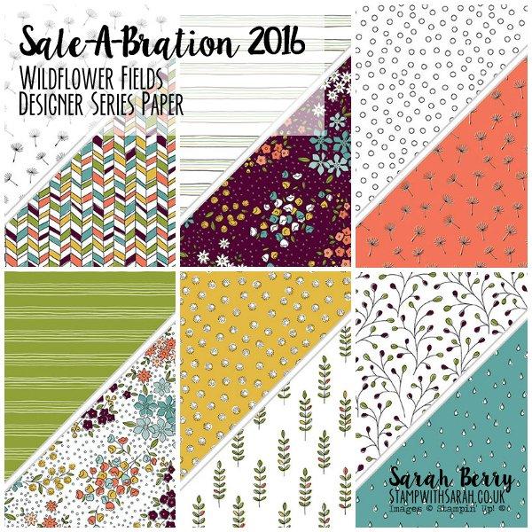 Sale-A-Bration Wildflower Fields Designer Series Paper