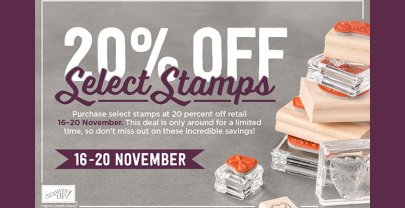 20% OFF Select Stamps – 5 days only!