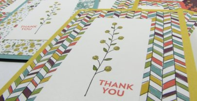 Customer Thank You cards using Flowering Fields from Sale-A-Bration