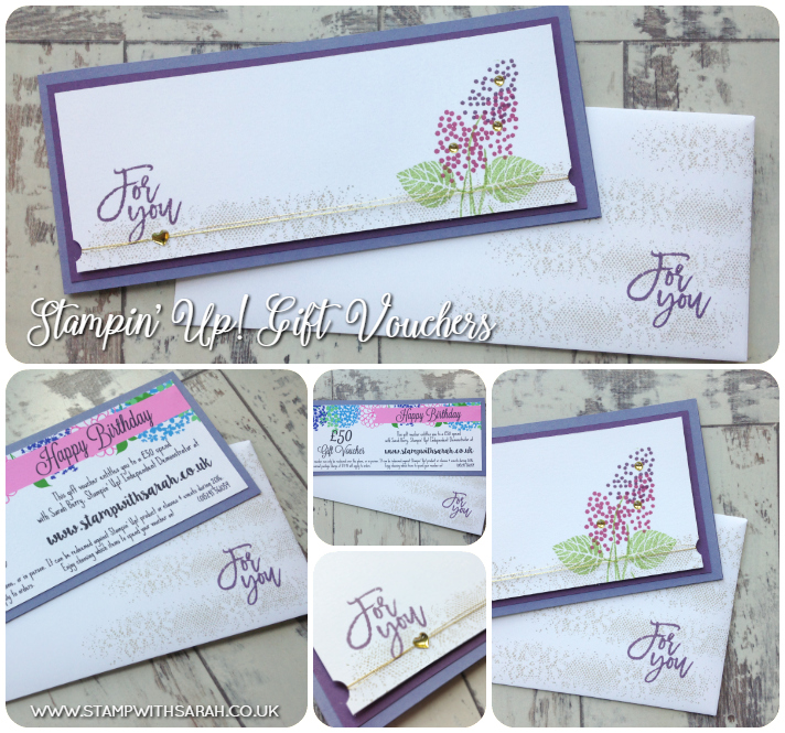 Stampin' Up! Gift Vouchers from Stamp with Sarah - The best present!