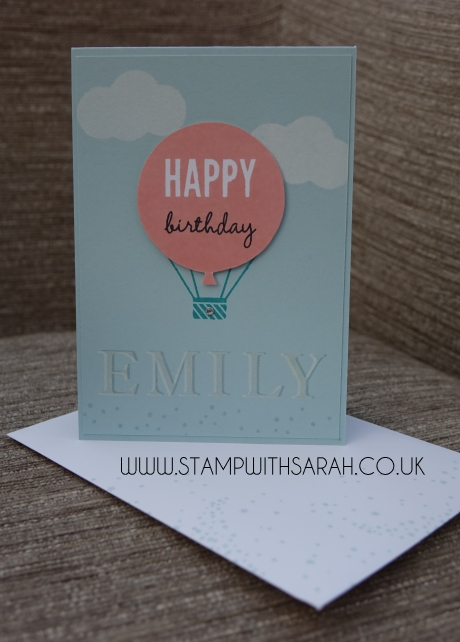 Stampin Up UK Stamp with Sarah Berry Pinkies Spring Summer Blog Hop Celebrate Today
