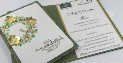 Stampin' Up! Gift Vouchers available to order