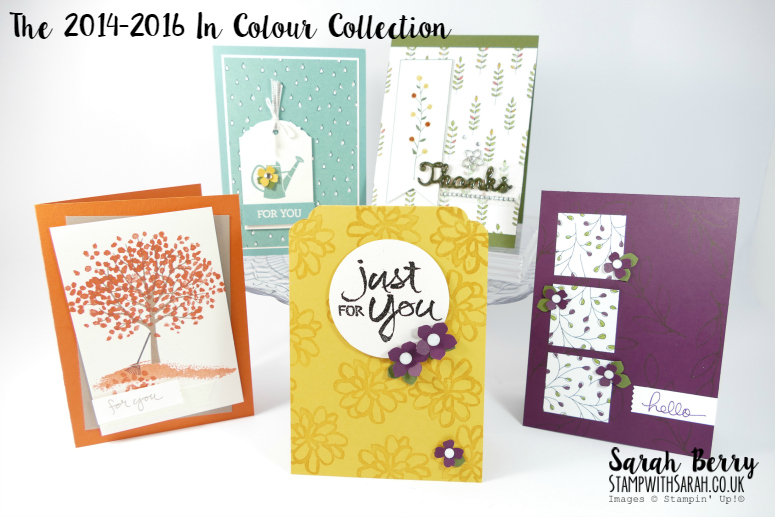 The complete 2014-2016 In Colour Collection #stampwithsarah #stampinup