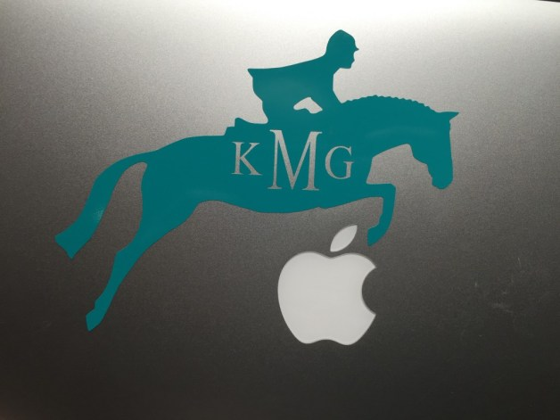 Of course the horse has to be jumping the apple!