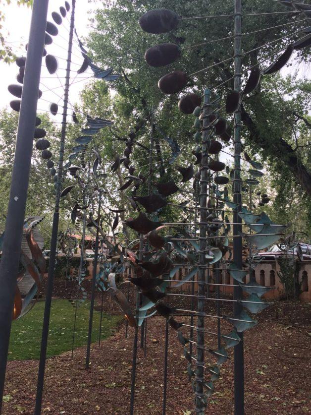 Awesome spinning yard art