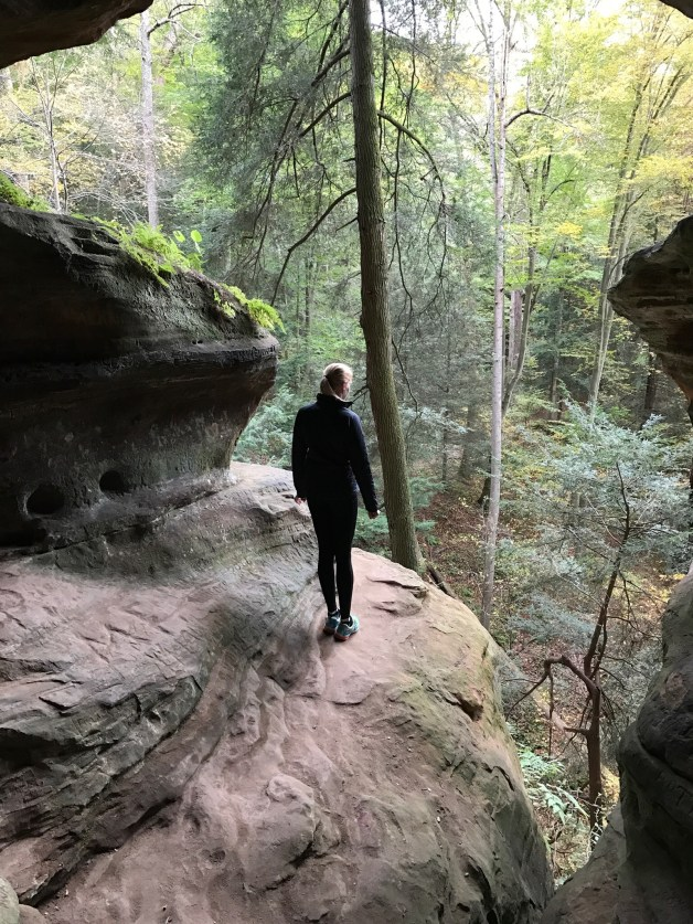 Rock House in Hocking Hills, Ohio earlier this month