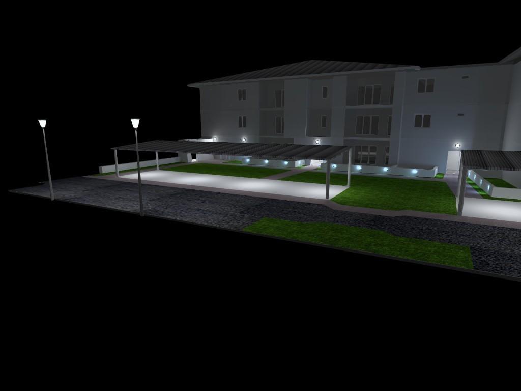 Eclairage entrée parc