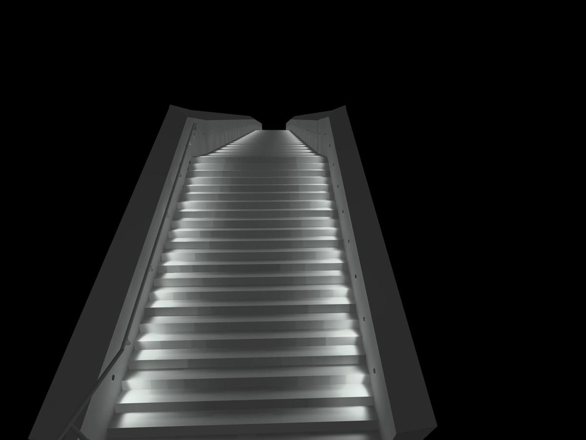 Eclairage escalier extérieur