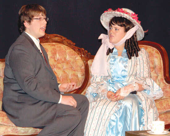 A scene from the Sikeston Little Theatres youth production of Oscar Wildes comedy The Importance of Being Earnest