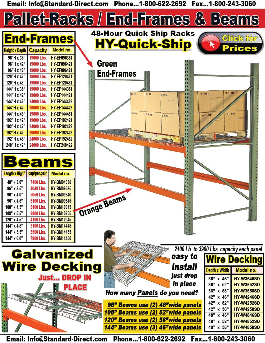 quick ship pallet rack beams hybm