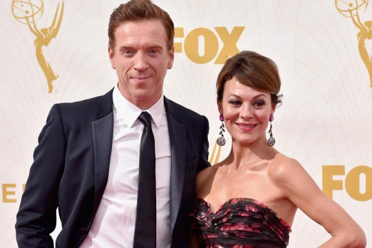 Power couple: Damian Lewis with his wife and fellow actor, Helen McCrory
