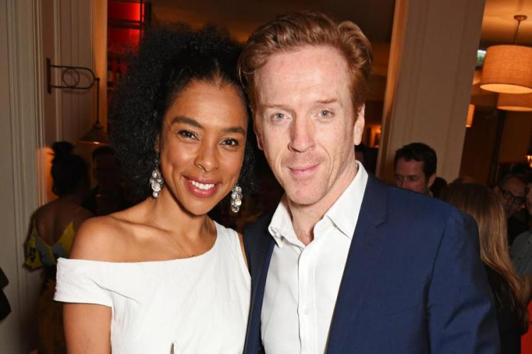 Soldering on: Damian Lewis and co-star Sophie Okonedo