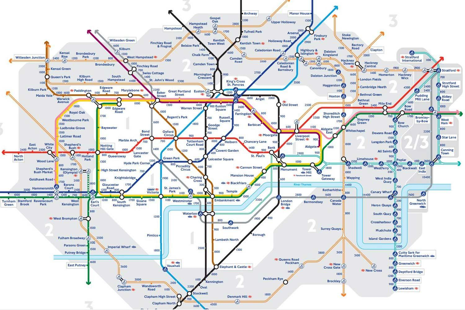 Tfl S Walk The Tube Map Shows Walking Distance Between