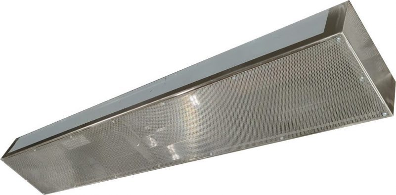commercial kitchen exhaust hood psp perforated makeup air chamber nfpa 96 nsf 24 x 48 x length