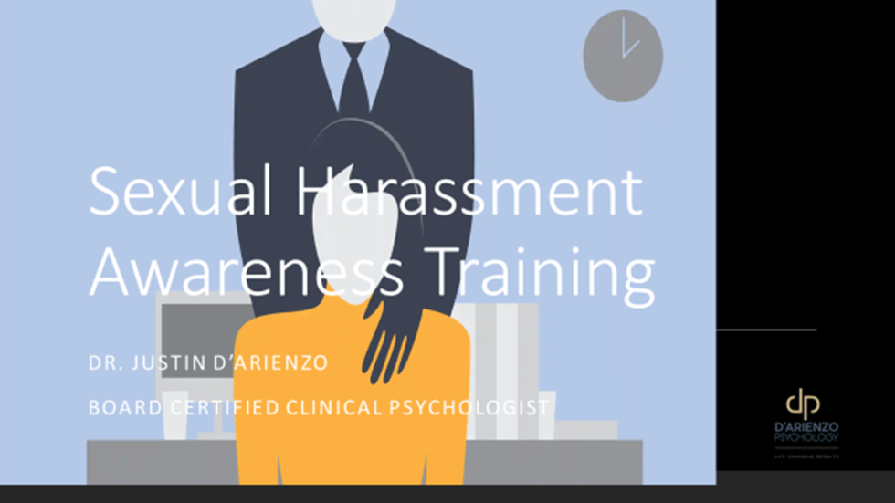 Annual Sexual Harassment Training
