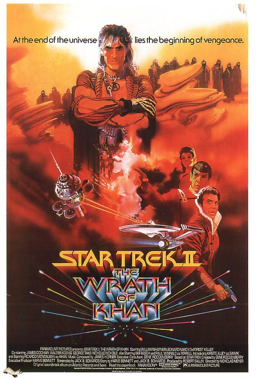The 1982 movie poster for Wrath of Khan