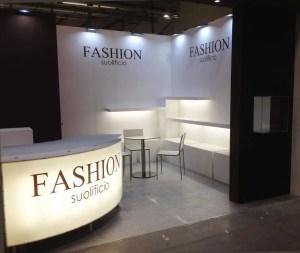 Allestimento fieramilano LINEAPELLE Stand Suolificio Fashion